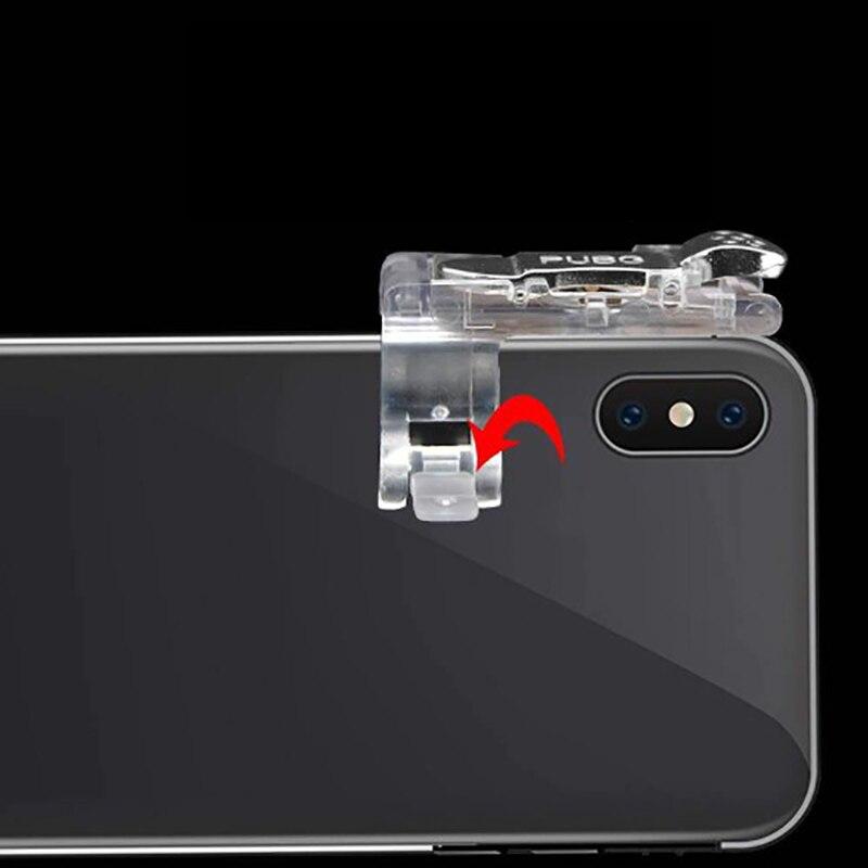 Image 2 - 2 pièces PUBG Mobile Gamepad Manette De Jeu Mobile Tireur Feu Bouton Déclencheur L1R1 Joystick Pour iPhone Téléphone Xiaomi JeuGamepads   -