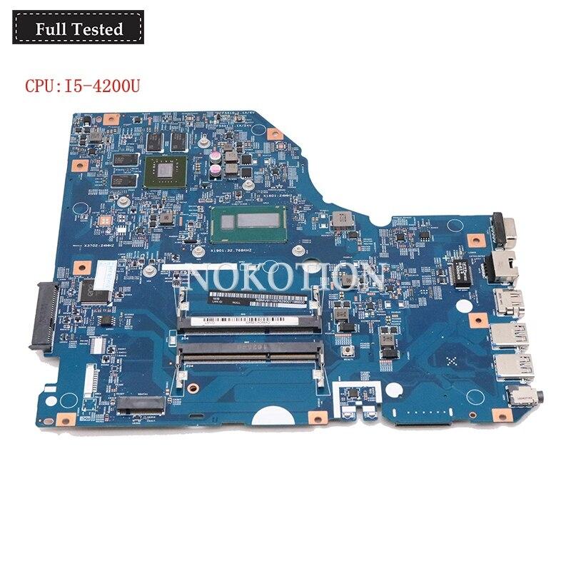 Nokotion NBMV911007 NB.MV911.007 For acer Asipre E5-772G 448.04X09.001M laptop motherboard 940M SR170 I5-4200UNokotion NBMV911007 NB.MV911.007 For acer Asipre E5-772G 448.04X09.001M laptop motherboard 940M SR170 I5-4200U