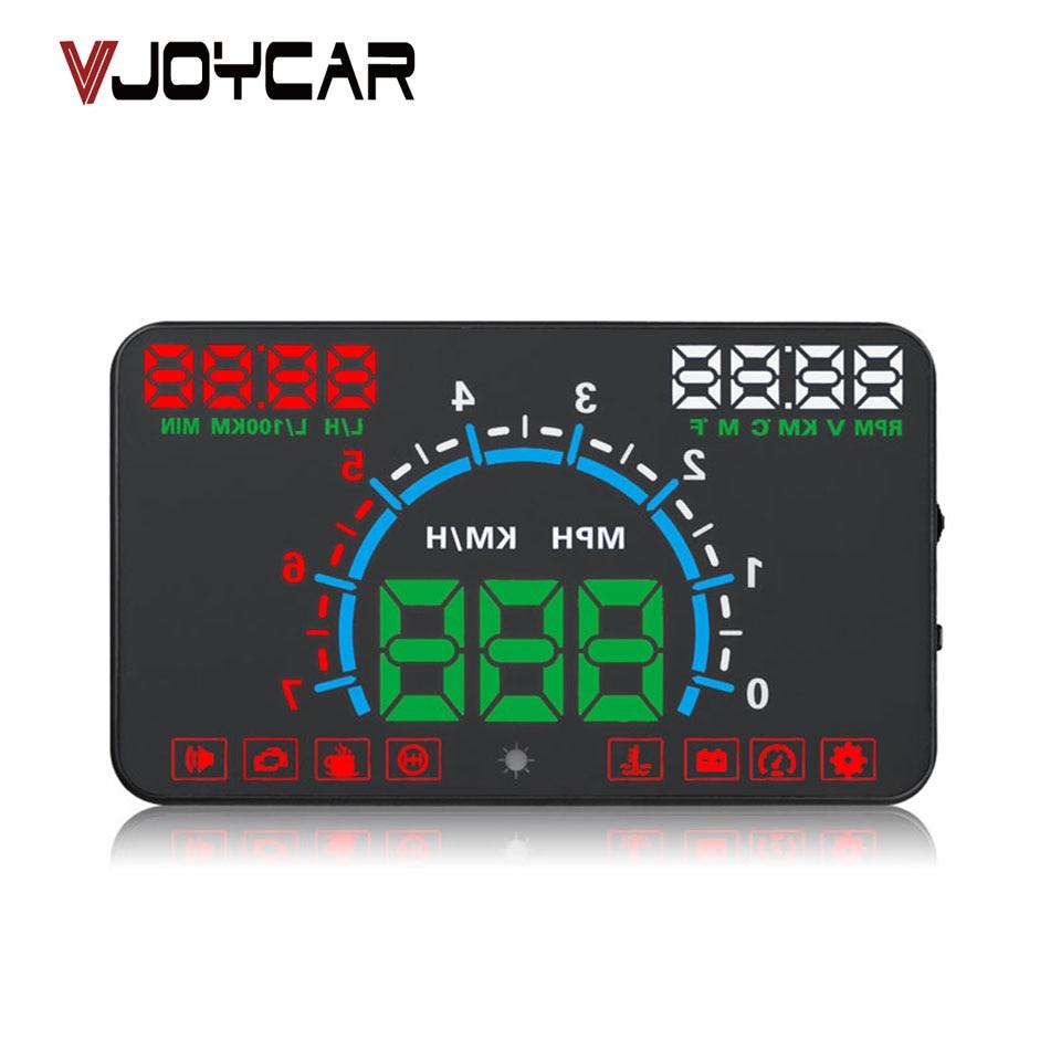 VJOYCAR E350 5.8 Hud OBD2 Head Up Display Car Speed Projector Vehicle Speedometer Windshield Speedo Projetor Navigation universal 3 5 car hud a3 head up display with obd2 interface