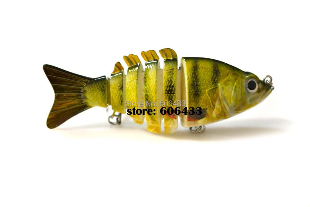 Deep Sea Multi section Lure Fishing Fish Swing Lures 6 Segment Swimbait Crankbait 10cm/20g 8035-FL62S01 Free shipping