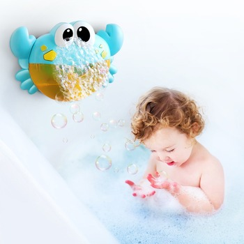 Bubble Machine Crabs Music Light Electric Bubble Maker Baby Kids Outdoor Swimming Bathtub Soap Machine with Music Water Toy Cute 1