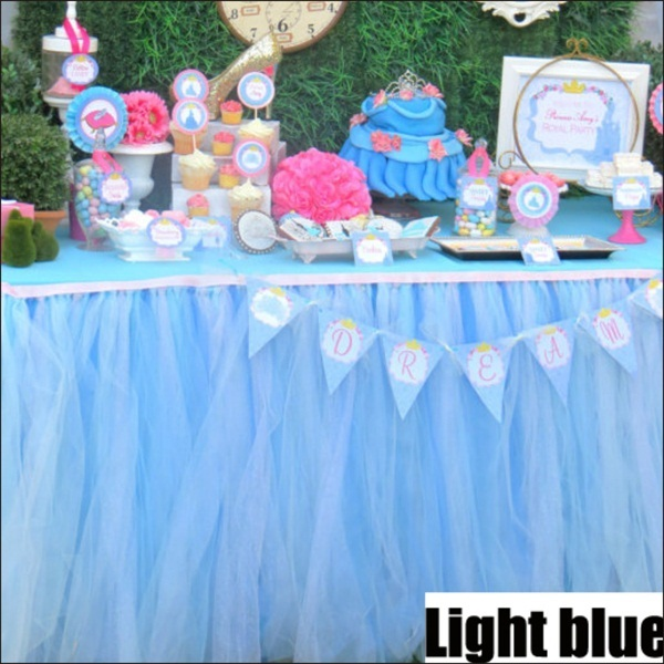 1pc Blue table skirt Presents for one year old boy 5c64f7ebeed00
