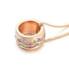 Уникальный новый золотой цвет горка бусы кулон ожерелье сделано