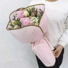 Papel translúcido de esquina redonda de Vals, papel Vintage para envolver Flores, papel de embalaje, suministros de decoración Floral, 20 unids/lote