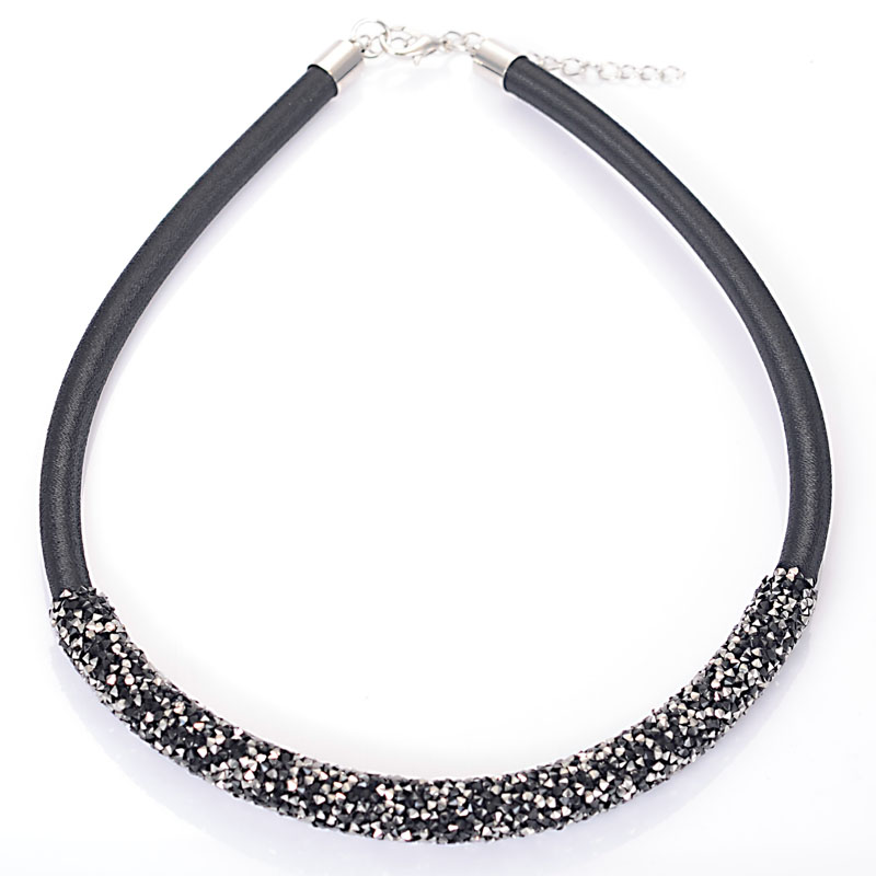 Luxury Trendy Crystal Necklace for Woman Chocker Necklaces Rhinestone Crystal Pave Necklaces Brand Jewelry Christmas Gift