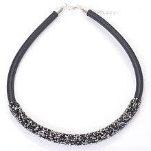 Роскошные Модные Кристалл Ожерелье для Женщин Chocker Ожерелья Rhinestone & Кристалл Pave Ожерелья Марка Ювелирных Изделий Рождественский Подарок