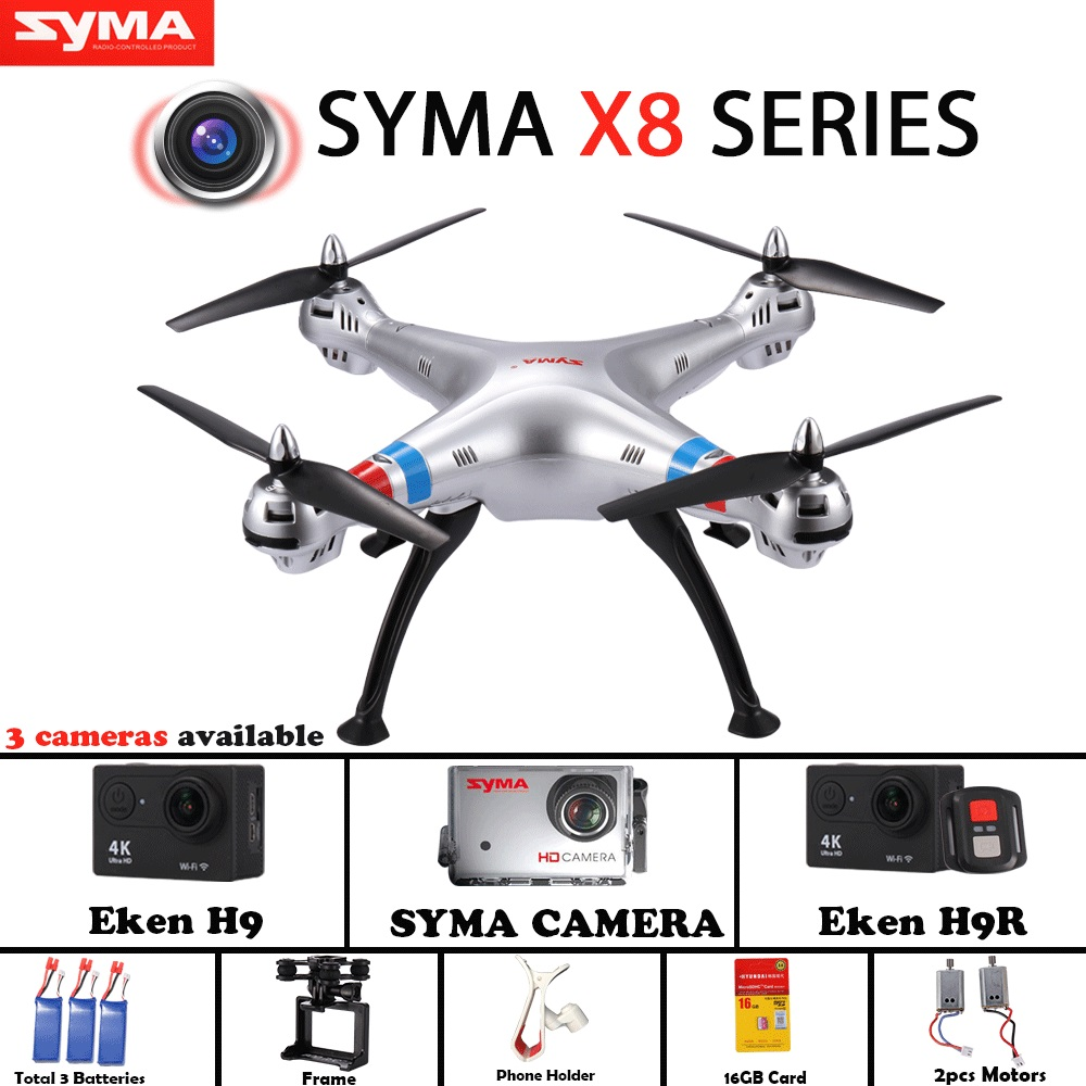 Syma X8 series syma X8C X8G X8W Drone Quadcopter Without Camera with frame Can Carry Gopro