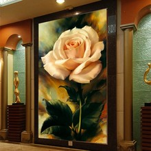 3D Personalized wallpaper Rose Floral