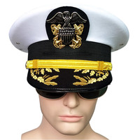 army hat American officer Visor hats men for cosplay military eagle emblem hats Halloween Christmas gift noble US army navy cap