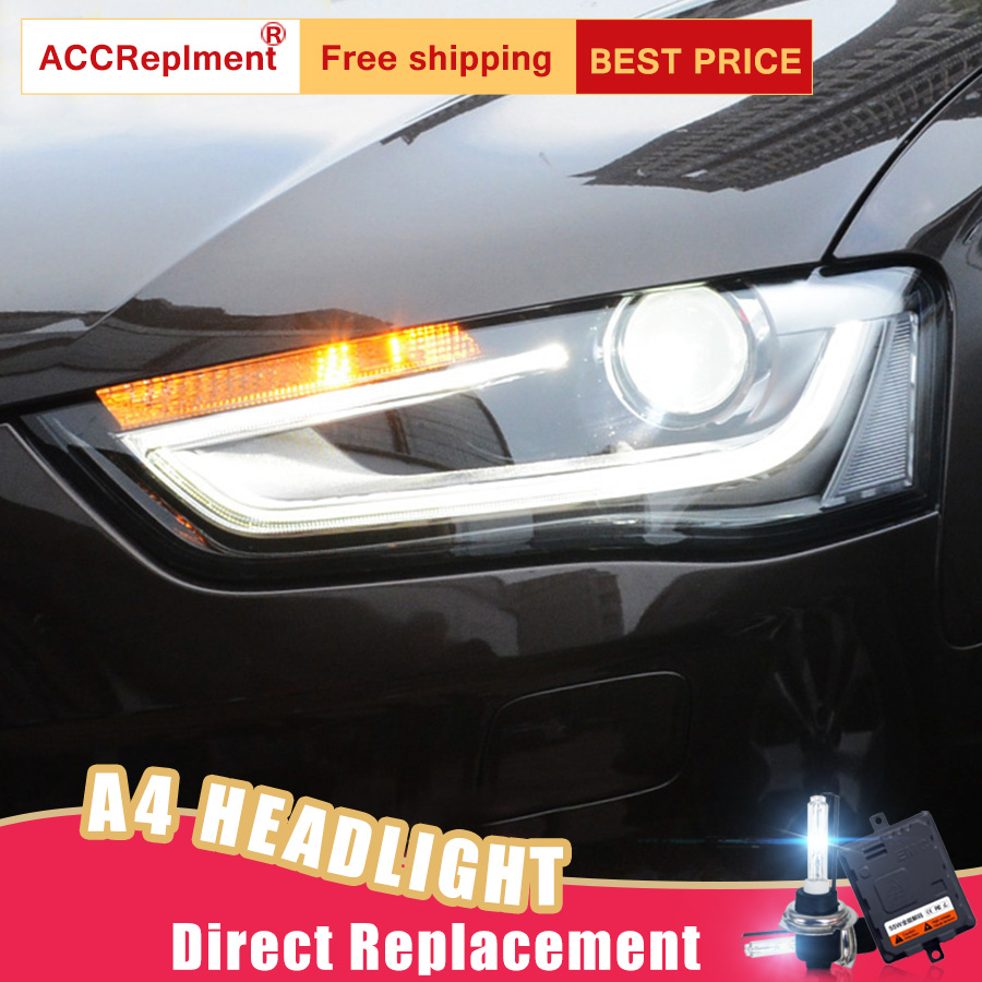 2Pcs LED Headlights For Audi A4 2013-2016 led car lights Angel eyes xenon HID KIT Fog lights LED Daytime Running Lights2Pcs LED Headlights For Audi A4 2013-2016 led car lights Angel eyes xenon HID KIT Fog lights LED Daytime Running Lights