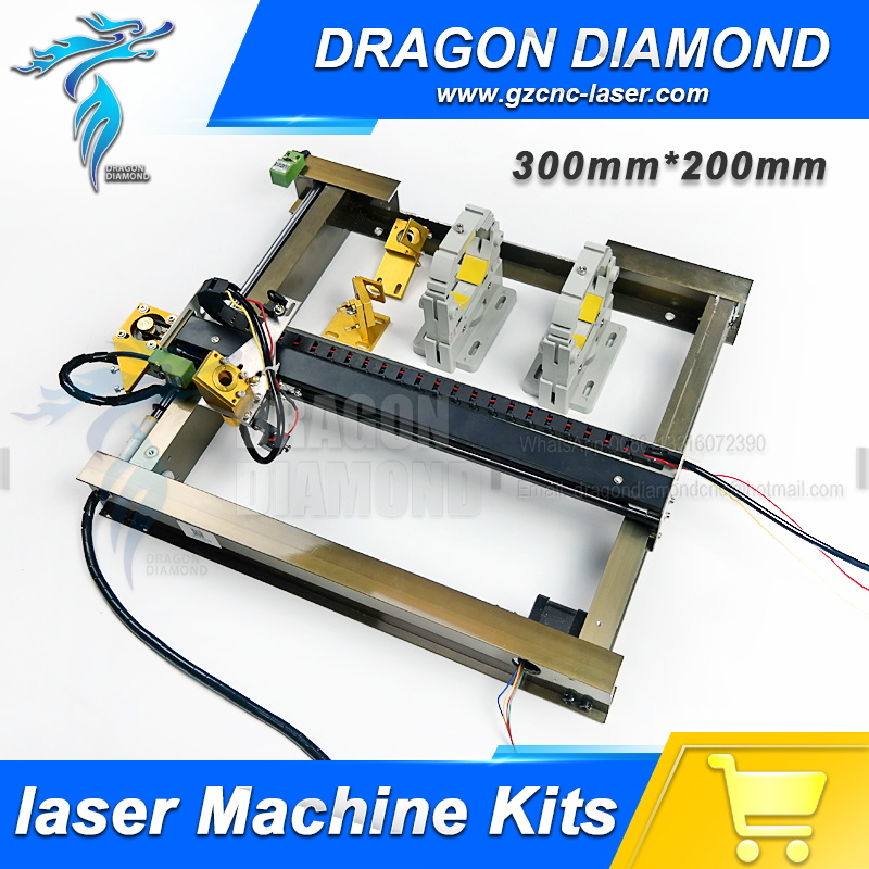 Mechanical Parts Set 200mm*300mm Single Head Laser Kits Spare Parts for DIY CO2 Laser 320 CO2 Laser Engraving Cutting Machine co2 laser machine spare parts s