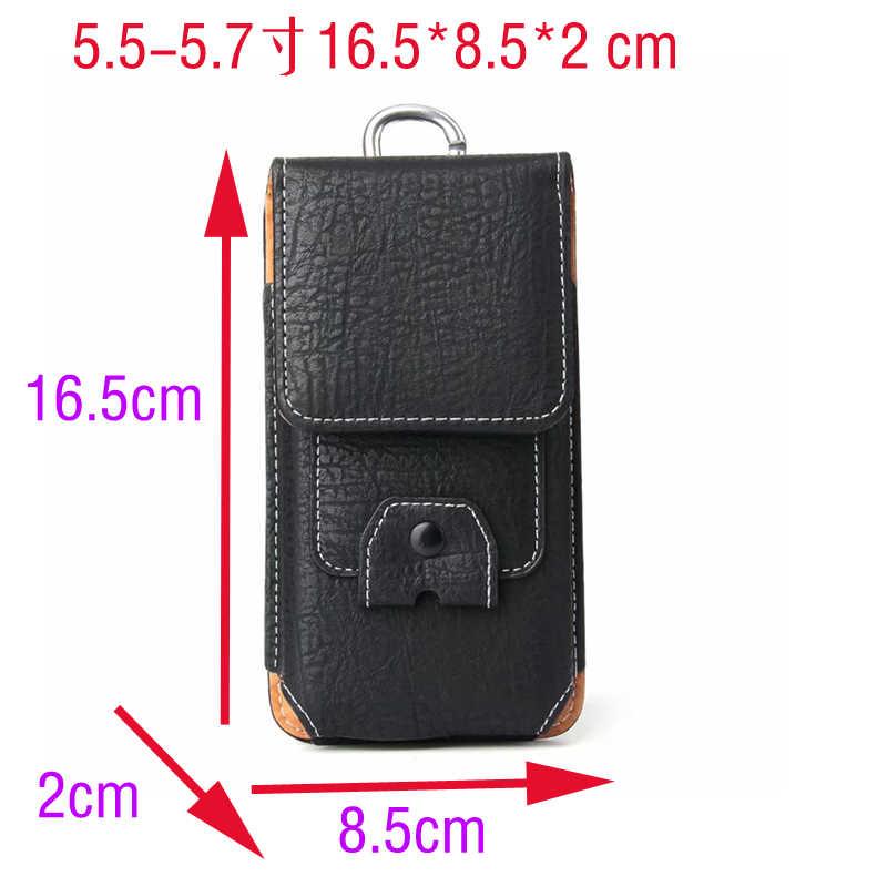 Mobiele Telefoon Lederen Case Taille Packs Riem Clip Pocket met Kaartsleuven Blackview BV9500 BV6800 BV5800 BV9000 BV5900 BV9100 BV6800