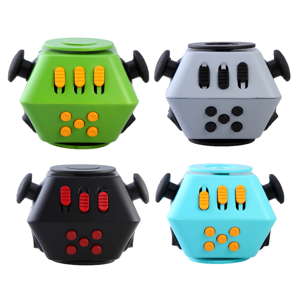 Mini Funny Fidget Cube Spinner Toy Desk Finger Toys Squeeze Fun Stress Reliever Hand Spinner Antistress
