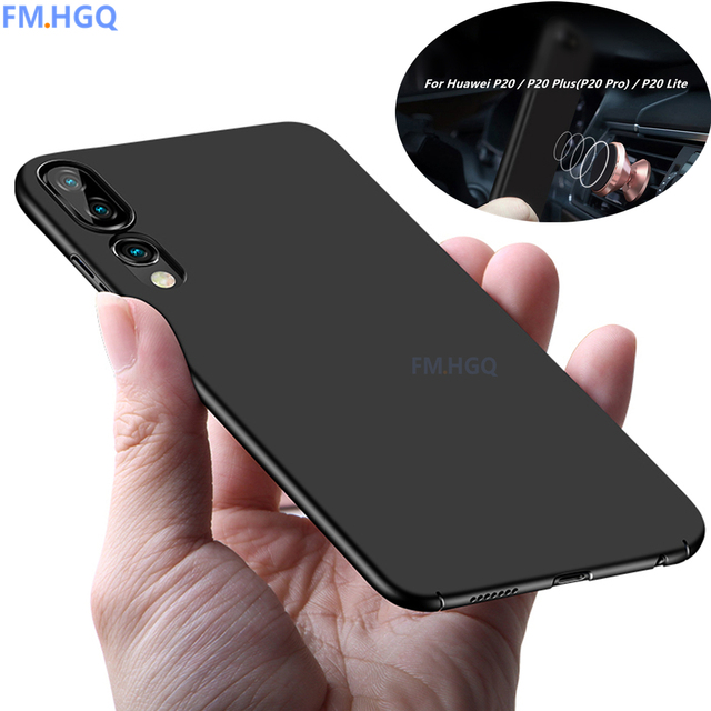innovative design f84e6 46caf US $3.67 8% OFF|Ultra Thin Magnetic Car holder Cases for Huawei P20 Pro P20  Lite Thin Slim Cover For Huawei P20 / P20 Plus Coque PC Back Shell-in ...