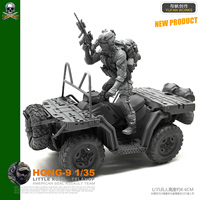 DIY 1/35 US Army Terrain Vehicle with Special Soldier Resin Soldier HONG 09