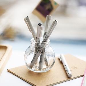 Image 5 - 8 cái/lốc Marvy nghệ thuật bút vẽ và Bàn Chải Phác Thảo Lót sắc tố hoạt hình bút gel Anime dụng cụ Văn Phòng Phẩm trường cung cấp 6861