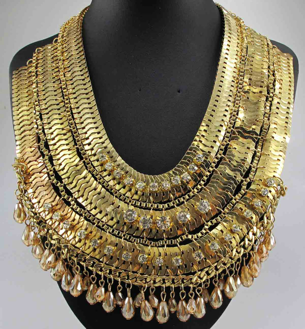Newest Gorgeous Fashion Necklace Jewelry crystal ra Department Statement Necklace Women Choker Necklaces Pendants