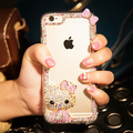 Люкс Полный диаманта rhinestone сияющий hello Kitty case для apple iPhone7 7 плюс 6 6 S 6 плюс 5S 5 г 5С 4S прозрачная крышка case