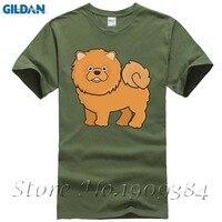 Stampa digitale Manica Corta In Cotone Carino Amante Del Cane POMERANIAN Dog t-shirt da Uomo tees Economici Camicia Chow Chow