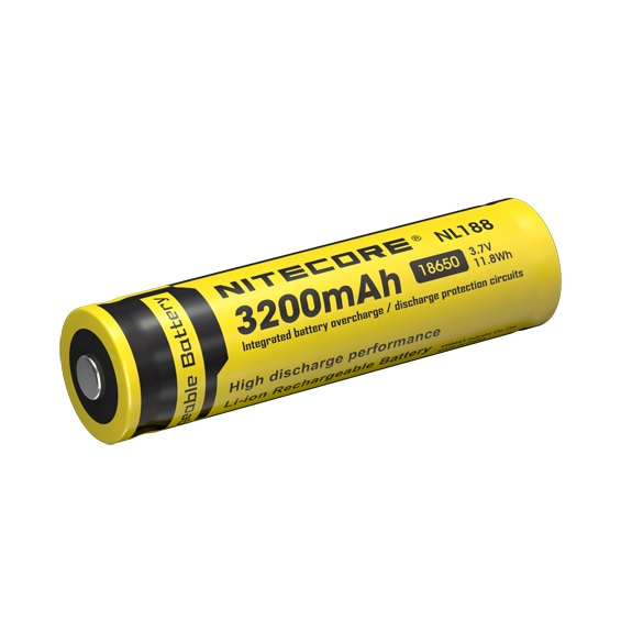 1 pcs Nitecore NL188 18650 3200mAh 3.7V 11.8Wh Rechargeable Li-on Battery high quality with protect детская футболка классическая унисекс printio дин винчестер supernatural