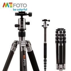 MeFOTO C1350Q1 Metallic Colors Carbon Fiber Tripod For Camera Travel Monopod Tripods Dslr Extendable Up to 61.6 Tripode