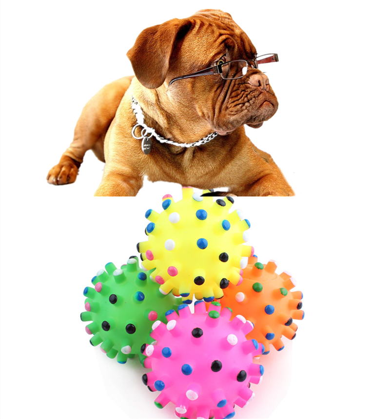 Yooap Dog toy pet vocal silicone small thorn ball bite