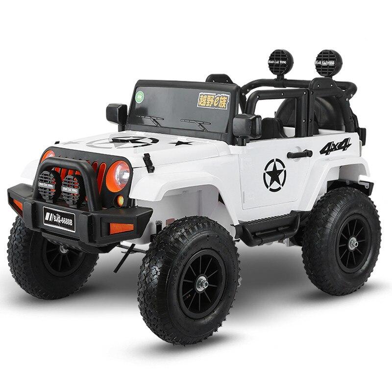 Quatre roues motrices enfants voitures électriques enfants voiture électrique tour sur 1-5 ans jouet d'équitation véhicule tout-terrain avec roue pneumatique - 3