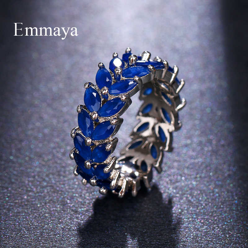 Emmaya, новинка, модные кольца для помолвки с кристаллами, 5 цветов, хит продаж, кольца для женщин, AAA, белый циркон, кубический, элегантные женские свадебные украшения
