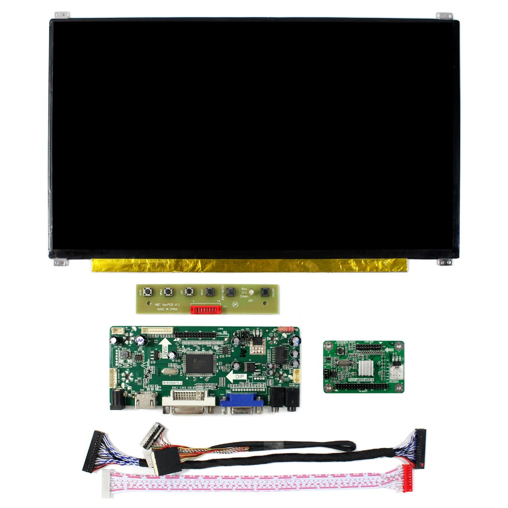 "HDMI VGA DVI Audio Controller Board For 13.3/"" N133HSE EA1 1920x1080 IPS LCD"