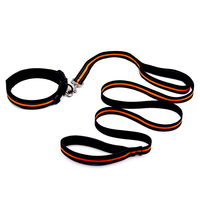 ETHIN Nylon Dog Collar Leash Padded Handle Leash Reflective Dog WalkingTraining Lead Soft Adjustable Dog Collar