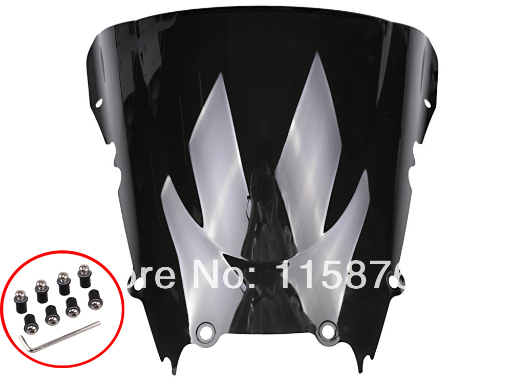 Windshield Windscreen Black For YAMAHA YZF R6 1998 1999 2000 2001 2002 Free Shipping