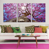 Only Beautiful Cherry Trees Oil Painting Picture Canvas Art Print Cuadros Tableau Decoration Modular Painting Flowers
