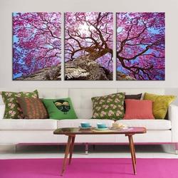 Nordic Schöne Kirsche Bäume Ölgemälde Bild Leinwand Kunstdruck Cuadros  Tableau Dekoration Modulare Malerei Blumen Der Wand