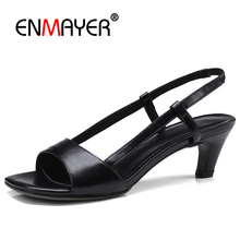 Enmayer street wear fashion brand shoes high heels shallow women summer pumps wedding pointed toe strange CR823