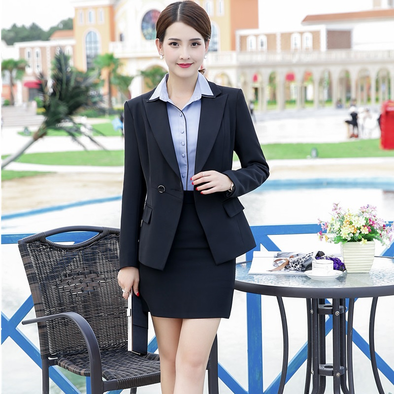 Autumn Winter OL Styles Ladies Blazers Skirt Suits With Jackets And Skirt For Women Business Work Wear Female Outfits Plus Size