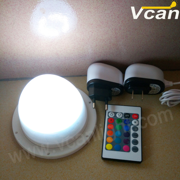 2pcs DHL Free Shipping 24RGB+14W RGBW wireless Led battery lamp with remote for restaurant bar