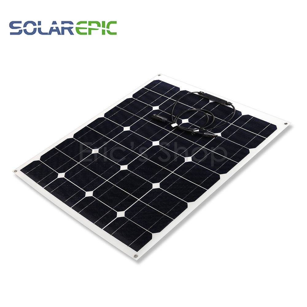 50W Flexible  Monocrystalline Silicon Solar Panel 12V  Charge With MC4 Connector Solar Panels  For Boat Car Battery Charger flexible silicon keyboard