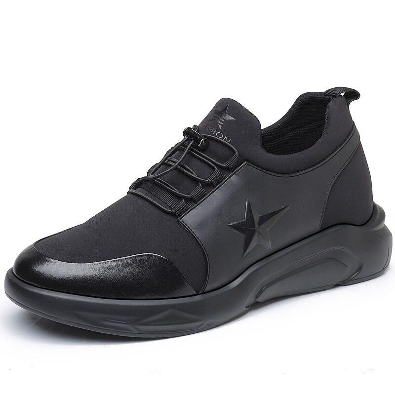 Новый Повседневное комфорт на открытом воздухе, визуально увеличивающая рост; спортивная обувь Скрытая корректирующая подъем стелька выше... - 3