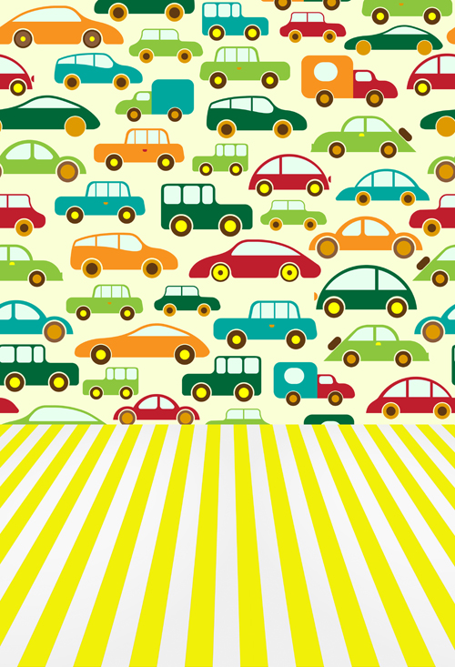 Cartoon cars printed toy backdrops for baby photo  Art fabric lovely newborn backdrop for studio photography background D-9934 back to school backgrounds deep green backdrops for photo studio baby photo thin art fabric backdrop d 3546
