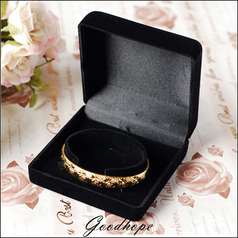 Whole 10pcs Black Velvet Bracelet Jewelry Bo Flock Jewellery Watch Necklace Or Pendant Gift Box Presentation In Packaging