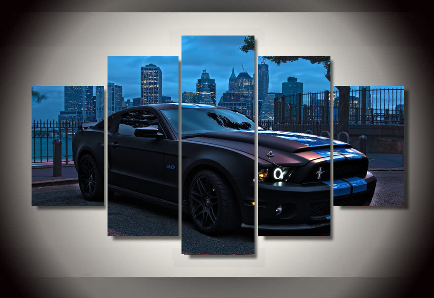 2016 Unfamed Printed For Ford Mustang Group Painting Childrenu0027s Room Decor  Print Picture Canvas Grant Car Wall Decals Background In Painting U0026  Calligraphy ...