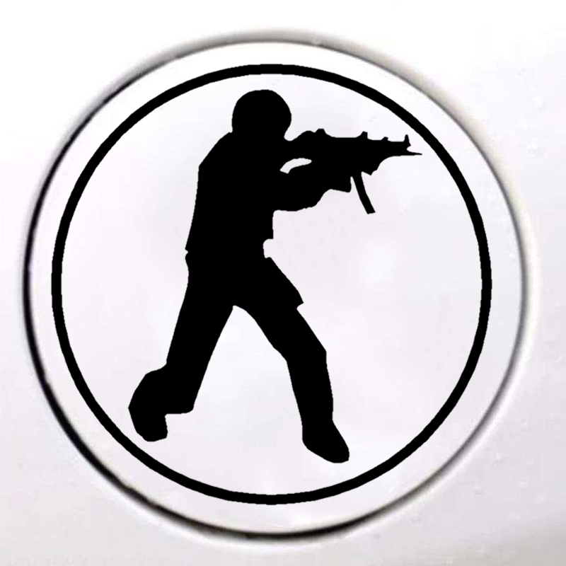 Yjzt 11.1*15cm Interesting Shooting Target Big Graphic Gun Car Sticker Vinyl High Quality Decoration Black/silver C12-0356 Online Shop Car Stickers Exterior Accessories