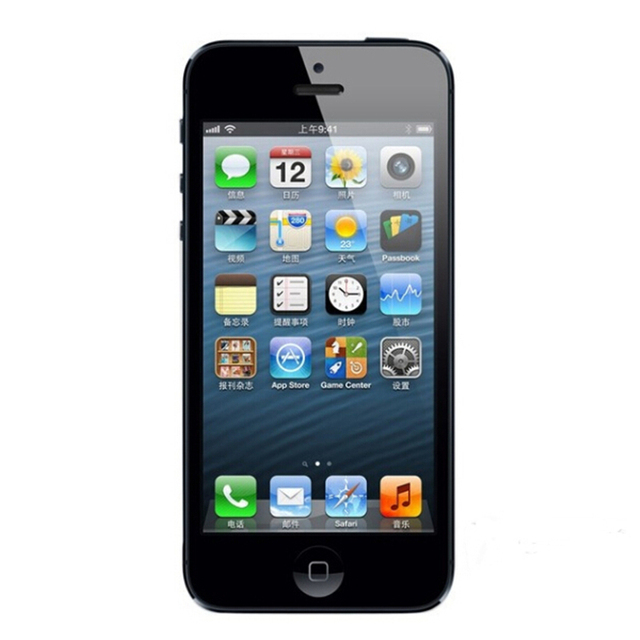 Original iPhone 5 IOS Factory Unlocked Cell Phone, IPS 8.0MP GPS 3G IOS System Used GSM Mobile