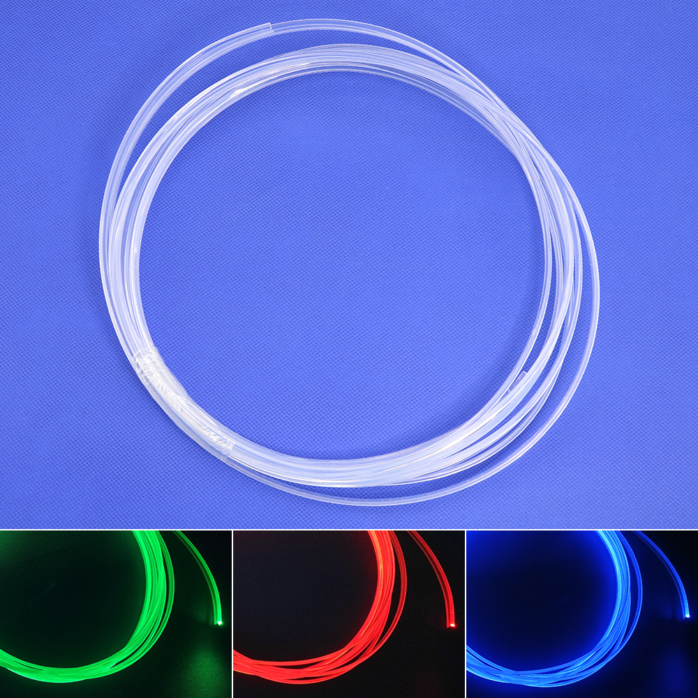 Image 3 - Skirt side glow 3.0mm diameter plastic PMMA fiber optic cable  5M/10M/20M for car decorative lighting free shipping-in Optic Fiber Lights from Lights & Lighting on
