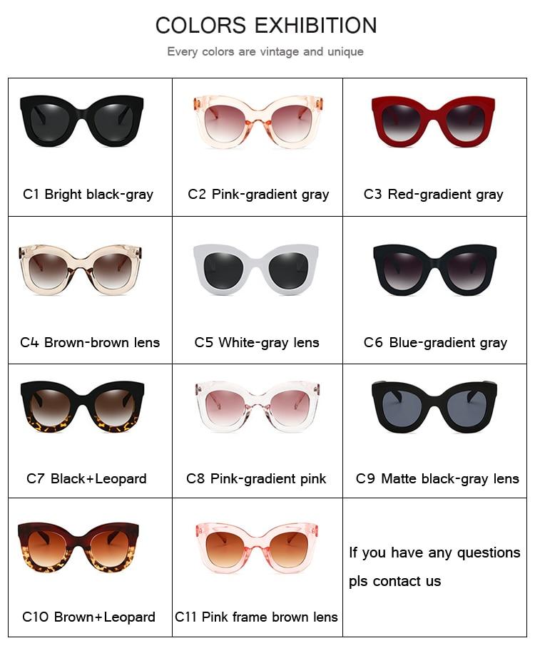 DRESSUUP Moda Marco grande Gafas de sol Mujeres Diseñador de la - Accesorios para la ropa - foto 2