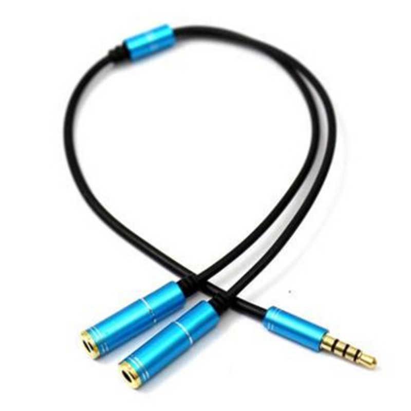 3.5mm Jack 1 męski na 2 żeńskie Splitter złącze słuchawkowe kabel do uniwersalnego telefonu komórkowego MP3 MP4-15