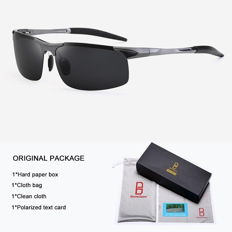 Bruno Dunn Driving polarized Men sunglasses 2020 sports High Quality UV400 Aluminum sun glasses for male oculos de sol masculino 7