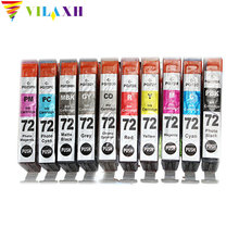 Vilaxh pgi72 pgi-72 10pcs Compatible PGI 72 PGI-72 Ink Cartridge For Canon PIXMA PRO-10 PRO10 Printer