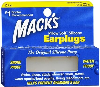 2Pairs Macks Soft Silicone Earplugs Waterproof Swimming Earplugs Soundproof Anti Snore Ear Plugs