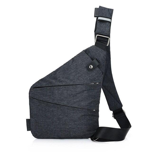 Brand Men Travel Business Fino Bag Burglarproof Shoulder Bag Holster Anti Theft Security Strap Digital Storage Chest Bags CE3122